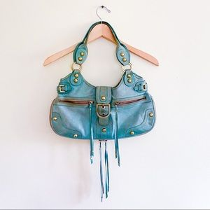 Rafe NY Seafoam Green Buckle Handbag